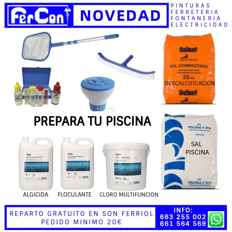 FERCON PREPARA PISCINA